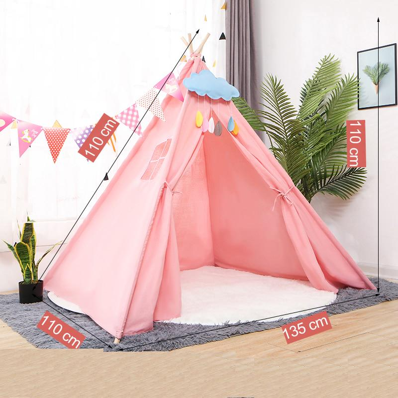 Buy Portable Kids Tent Cotton Canvas Tipi House Children S Tent Girls Play House Wigwam Game House India Triangle Tents Room Decor At Affordable Prices Free Shipping Real Reviews With Photos Joom