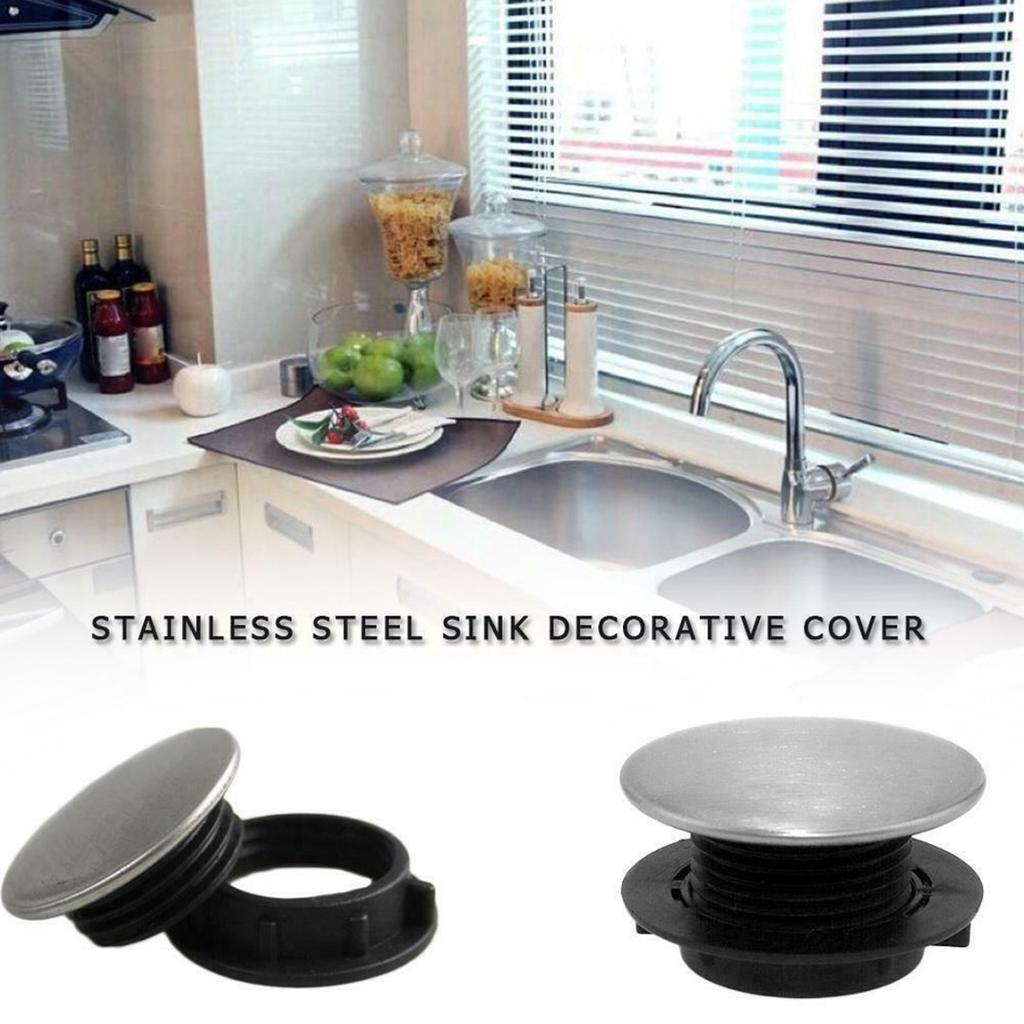 silver stainless steel kitchen sink tap hole blanking plug plate stopper cover buy at a low prices on joom e commerce platform