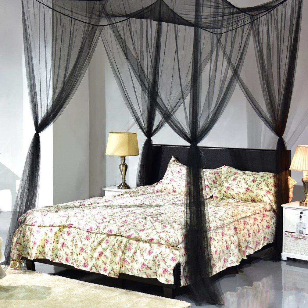 super size four corner mosquito net bed canopy set bedroom decoration