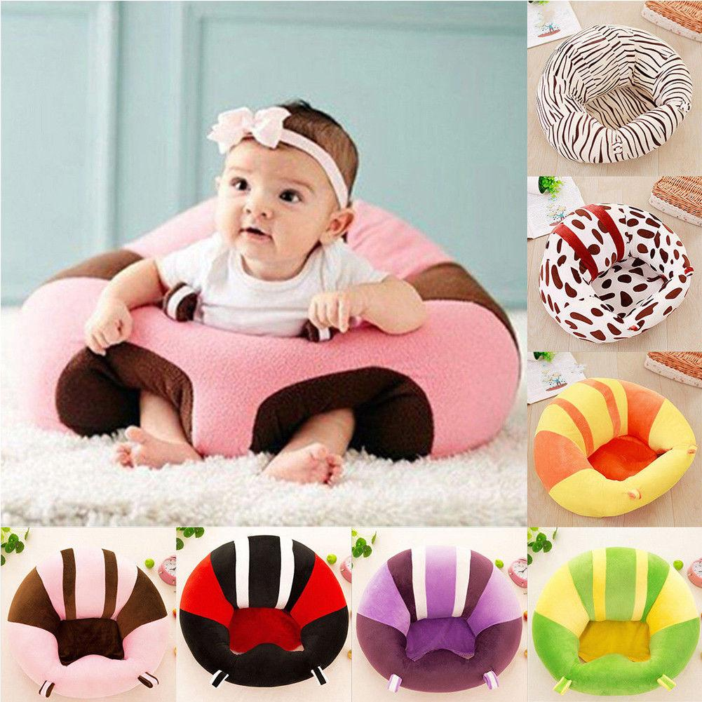 new kids baby support seat sit up soft chair cushion sofa plush pillow toy bean bag