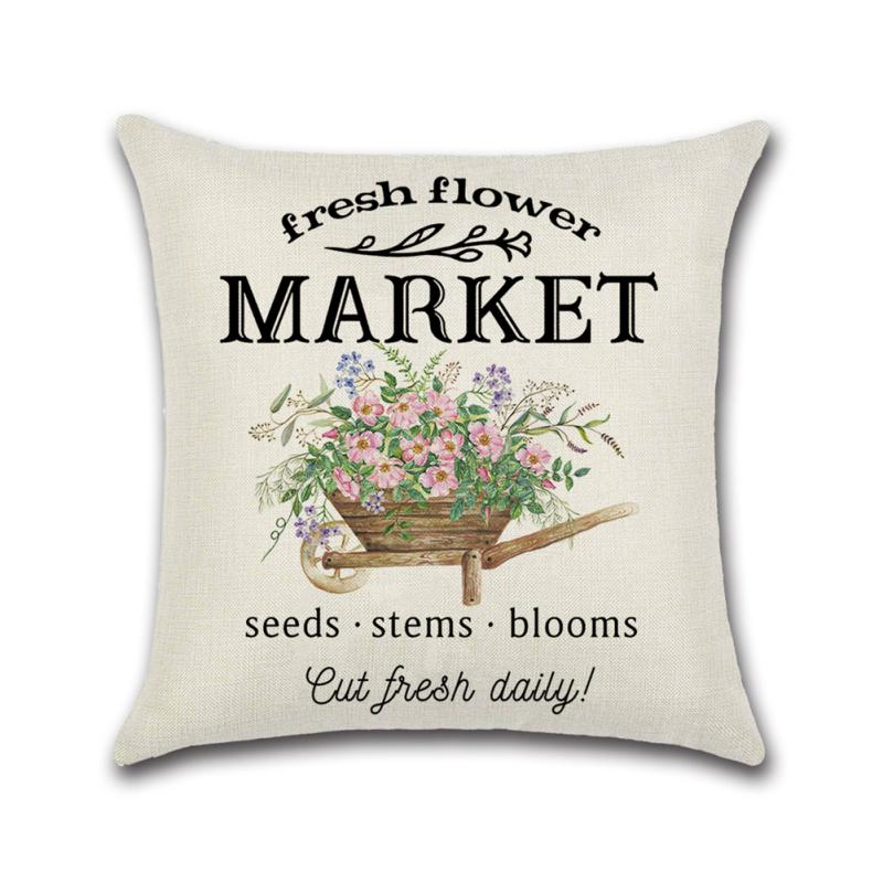 18x18 inch easter pillow covers for home decor spring elements truck decor easter throw pillows decorative cushion pillowcases