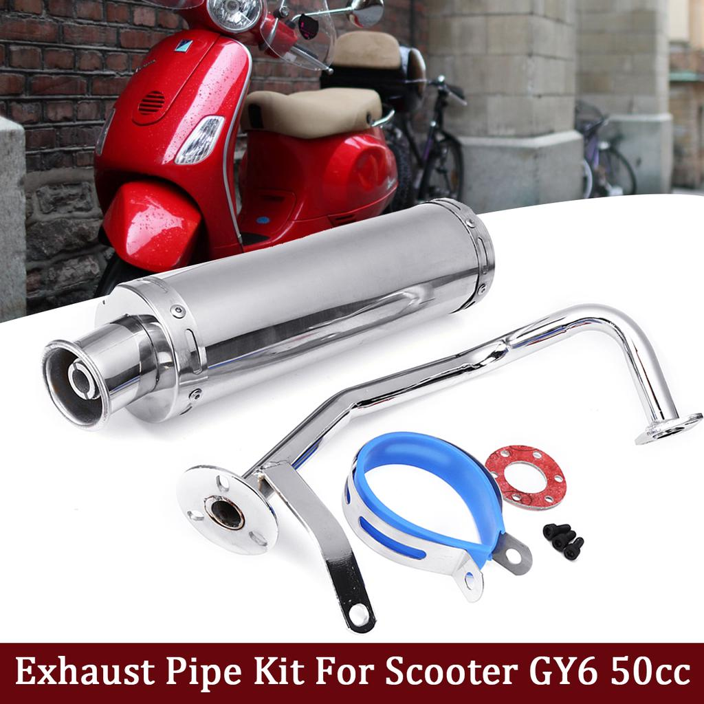 stainless steel exhaust muffler pipe gasket kit for gy6 50cc 125cc 150cc scooter