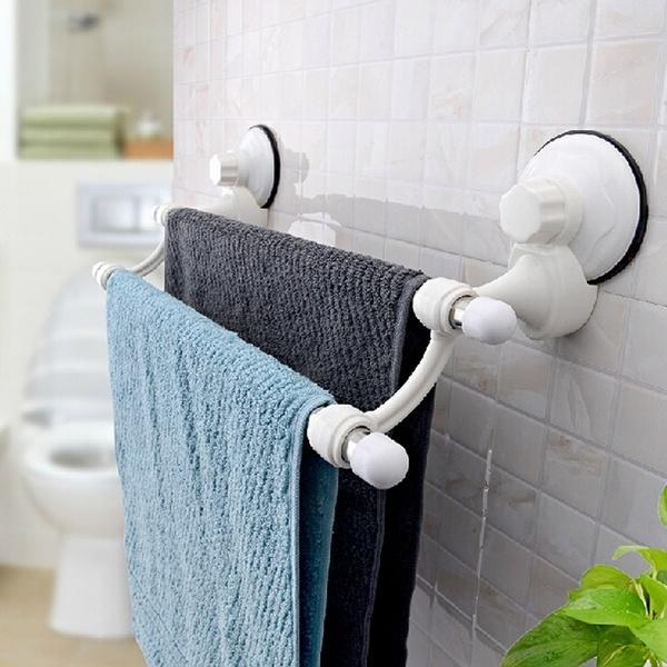 suction cup wall mounted towel rack double towel rail holder storage racks shelf bathroom buy at a low prices on joom e commerce platform