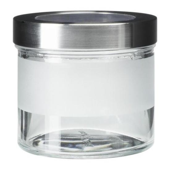 ikea droppar bocal avec couvercle depoli verre inox dimensions l 0 4 0 9 l
