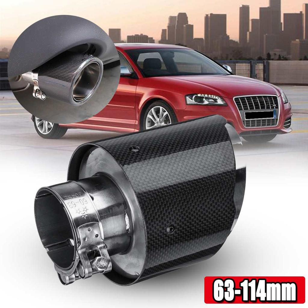 carbon fiber exhaust tips 63mm inlet 114mm outlet universal car exhaust pipe carbon siber and stain buy at a low prices on joom e commerce platform