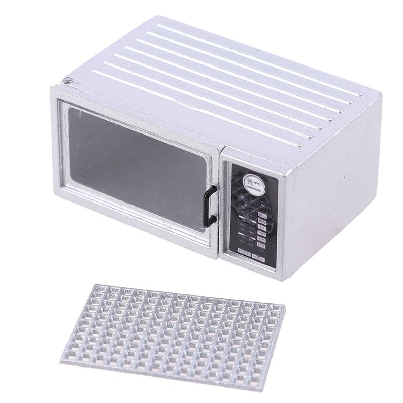 1pc portable mini food toy accessories universal 1 12 miniature dollhouse microwave oven doll