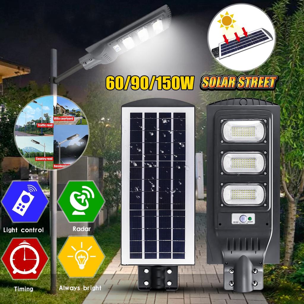 60 90 150w solar street lights outdoor solar powered commercial super bright motion sensor waterproof ip65 area security lamp for garden yard buy at