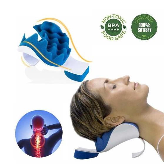 chiropractic pillow neck and shoulder relaxer orthopedic pillow neck massage traction device for pain relief and cervical spine alignment buy at a
