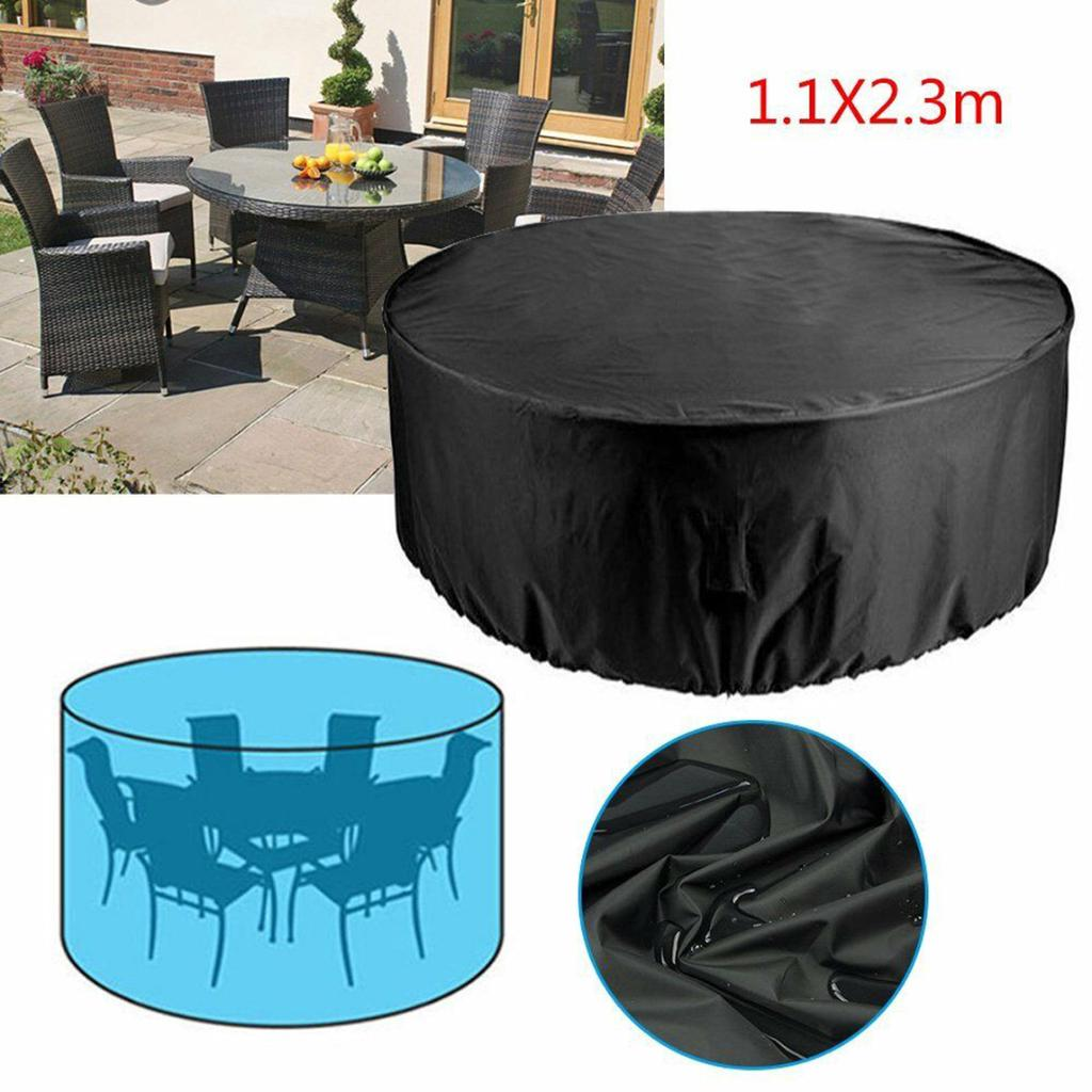 pdtoweb large round waterproof outdoor garden patio furniture table chair set cover buy at a low prices on joom e commerce platform
