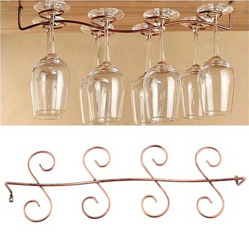 6 8 wine glass rack stemware hanging under cabinet holder bar kitchen screws