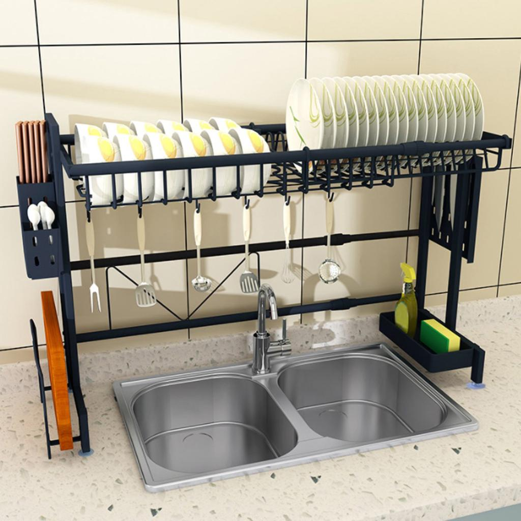 stainless steel dishes rack dual sink drain rack adjustable kitchen oragnizer rack dish shelf dish shelf sink drying rack buy at a low prices on joom