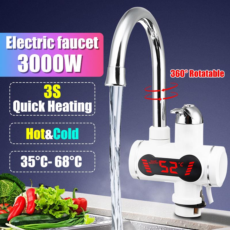 electric kitchen water heater tap instant hot water faucet heater cold heating water heater kitchen buy at a low prices on joom e commerce platform