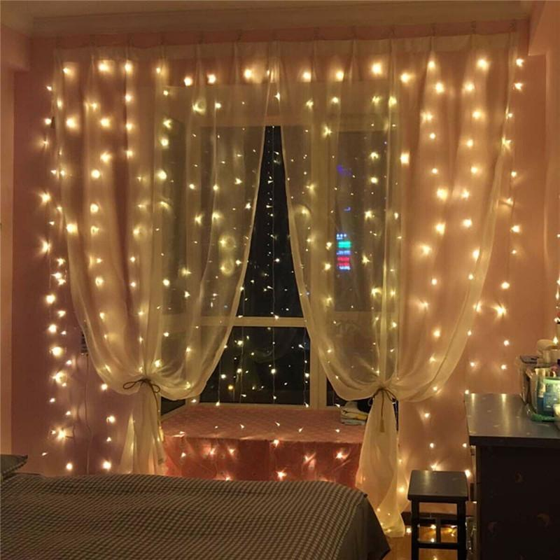 3x3m led icicle curtain string light fairy light christmas light for wedding home window party decor buy at a low prices on joom e commerce platform