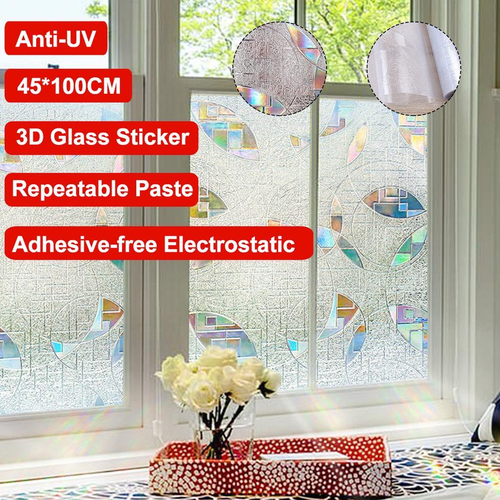 45x100cm frosted window glass sticker light opaque bathroom sliding door blackout window film decoration personality creative