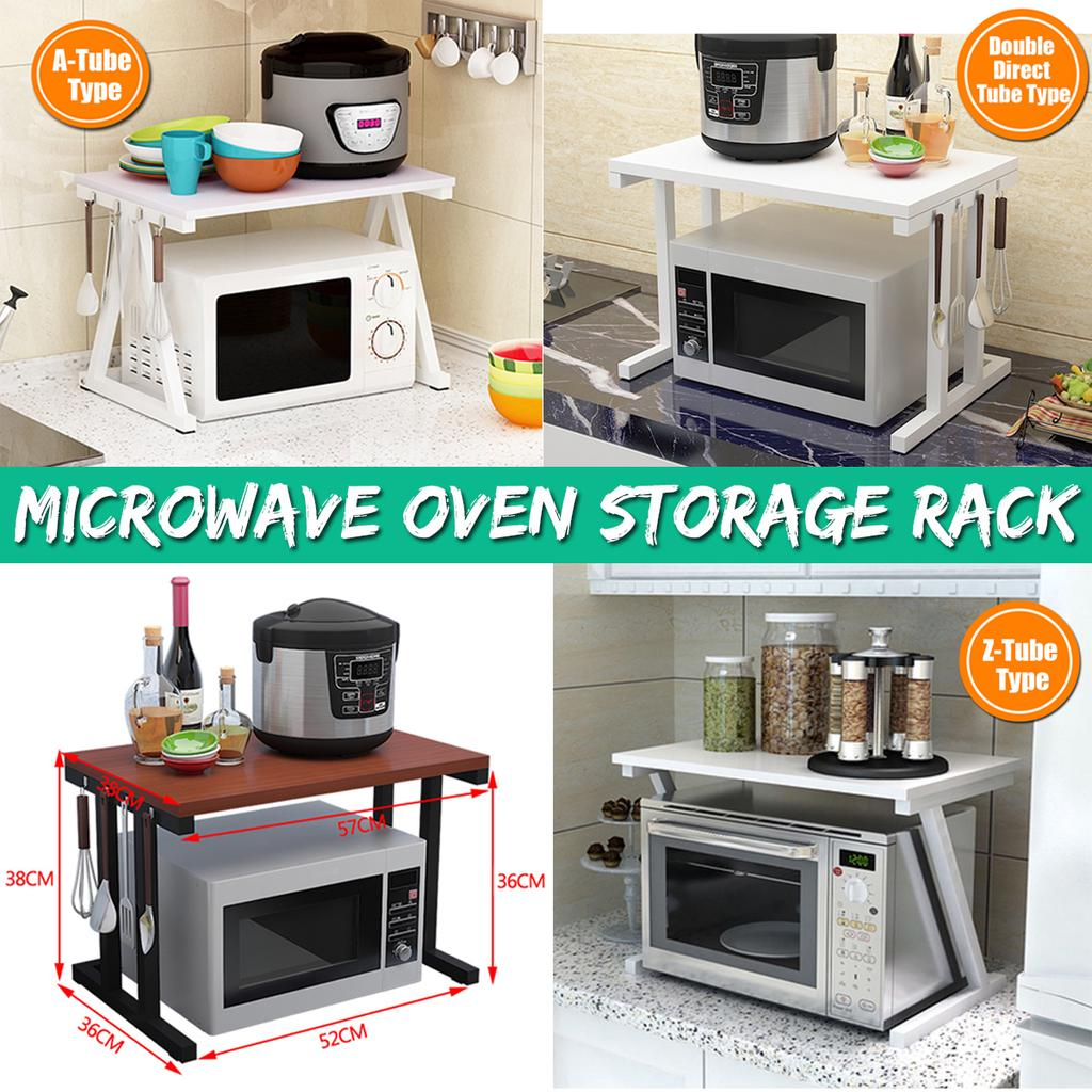 2 tier kitchen shelf microwave oven rack stand wooden condiment storage cabinet buy at a low prices on joom e commerce platform