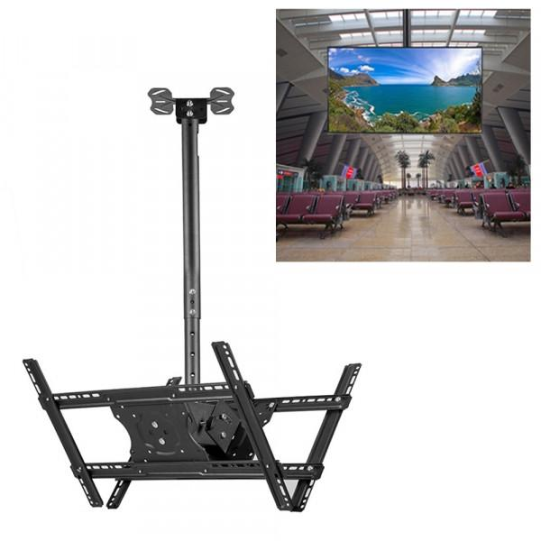support 32 65 inch universal height and angle adjustable tv double sided wall mount ceiling use retractable range 0 5 3m