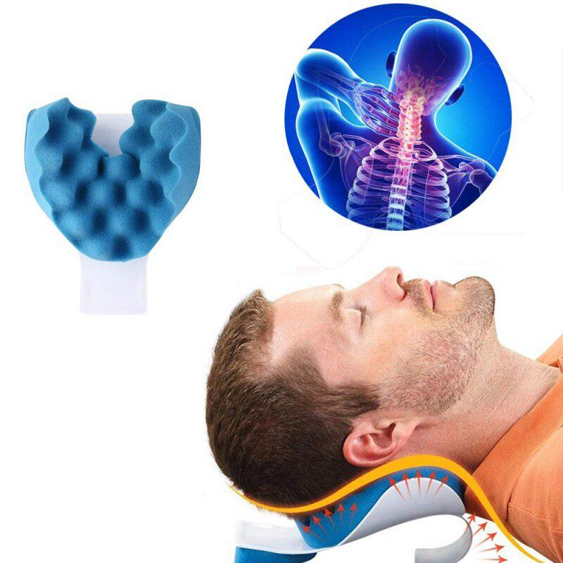 profession neck shoulder relaxation pillow neck support tension reliever shoulder muscle relaxer traction device pain relief buy at a low prices on
