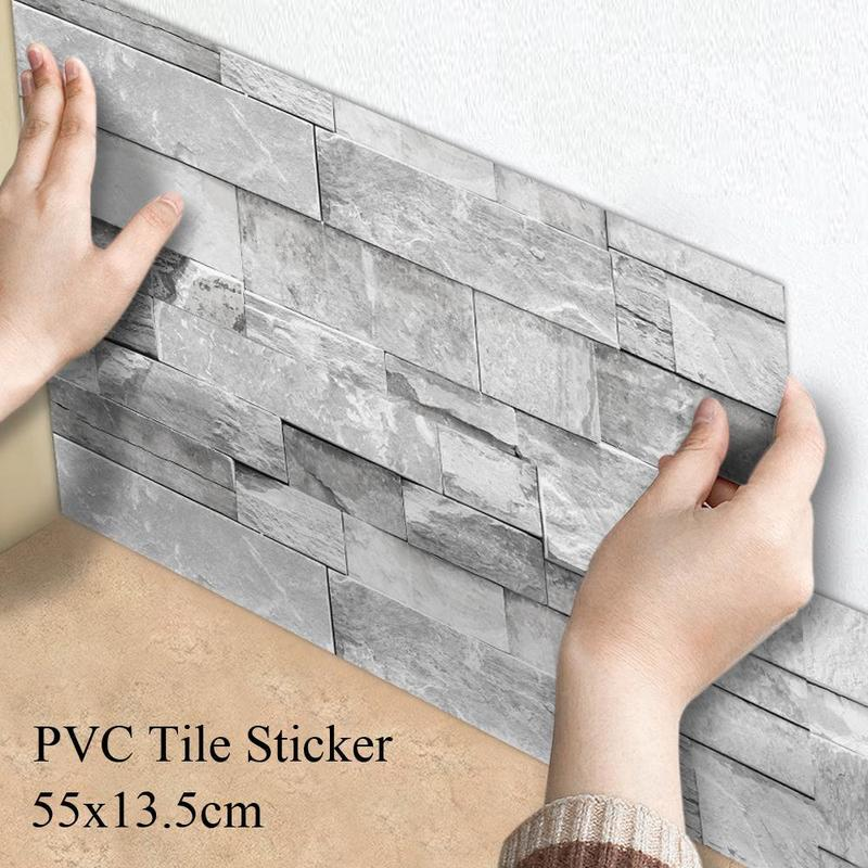 14pcs natural stone effect tile stickers transfers bathroom kitchen peel and stick buy at a low prices on joom e commerce platform