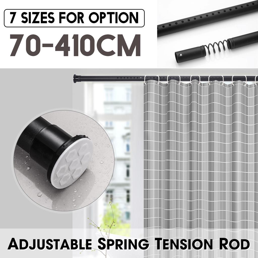 70 410 cm stainless steel telescopic shower curtain pole rod extendable rail home bathroom accessories buy at a low prices on joom e commerce platform