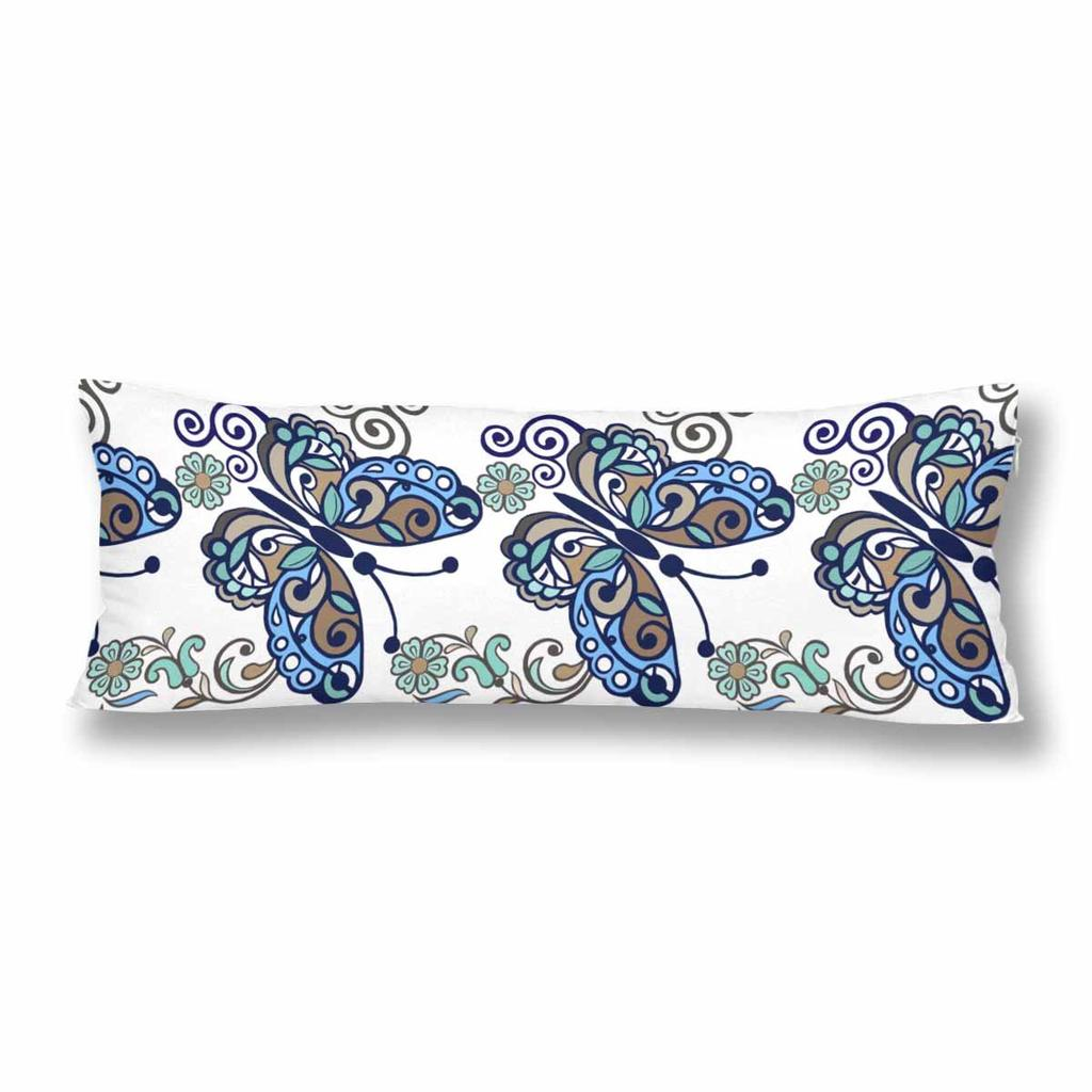 striped floral butterfly body pillow cover case 20x60inch 50x150cm vintage flower blue body pillow case buy at a low prices on joom e commerce