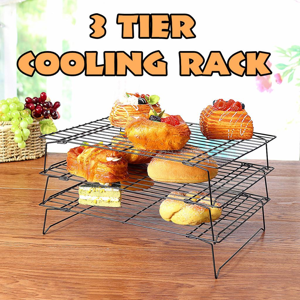 3 tier stackable cooling cake cookie biscuit rack stacks non stick baking bakery buy at a low prices on joom e commerce platform