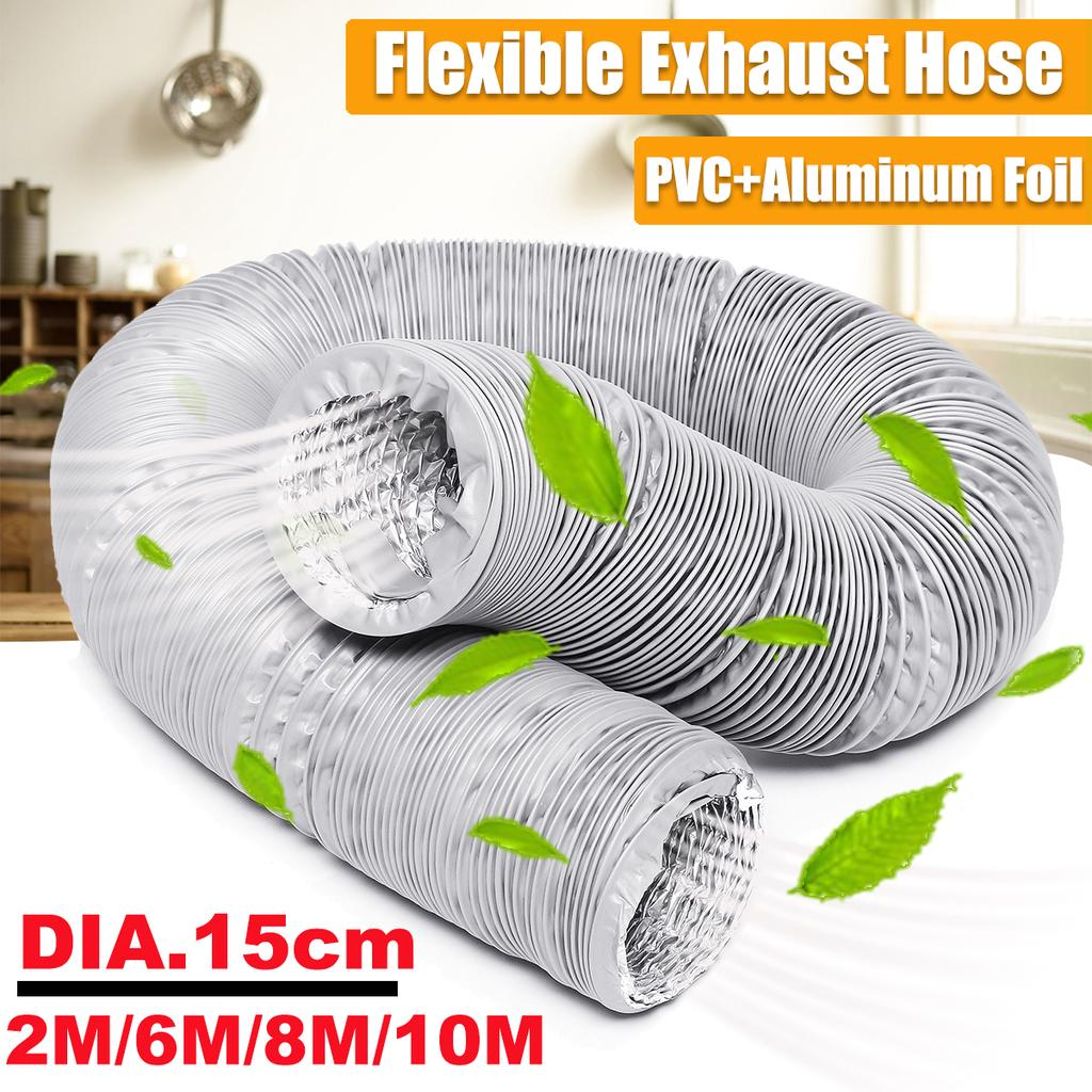 150mm 4 5 2 6 8 10m diameter universal flexible ducting ventilation pipe exhaust vent hose duct outlet pipe for portable air conditioner buy at a