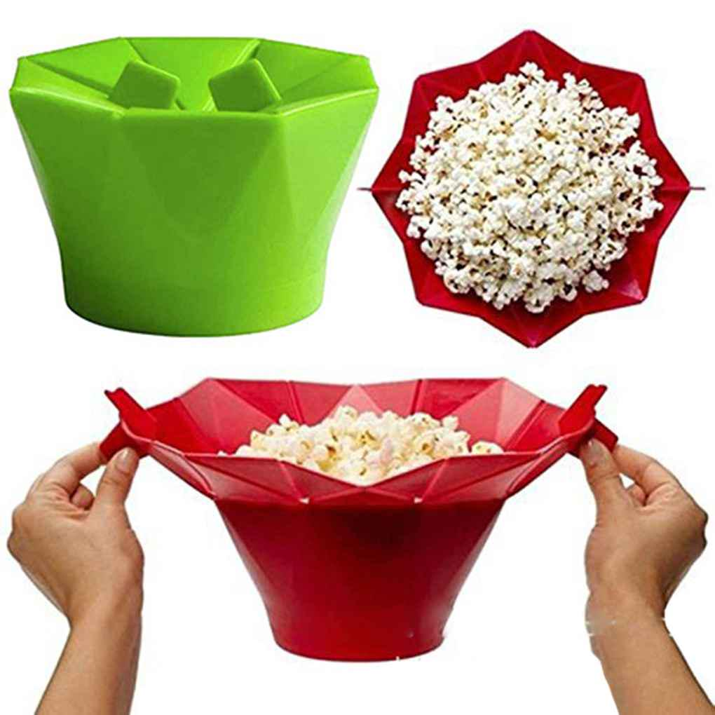 silicone microwave popcorn maker popcorn popper homemade delicious popcorn bowl buy at a low prices on joom e commerce platform