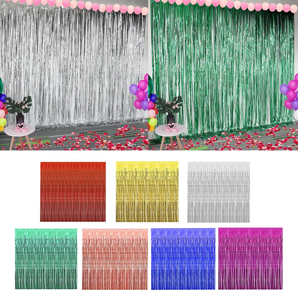 3x foil fringe curtain backdrop for disco proms photo booth decor red buy at a low prices on joom e commerce platform