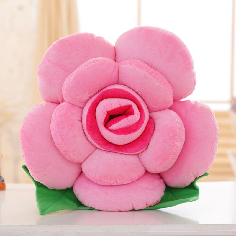 throw sofa flower shaped pillow fashion fake rose pillows cushion bed decor home
