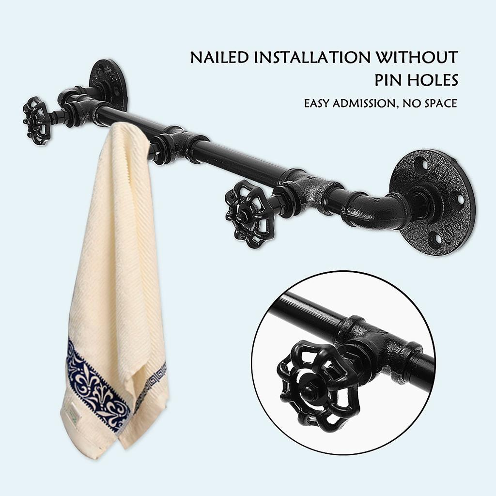 industrial pipe 3 hooks wall mounted industrial steampunk iron pipe coat rack towel hanger buy at a low prices on joom e commerce platform