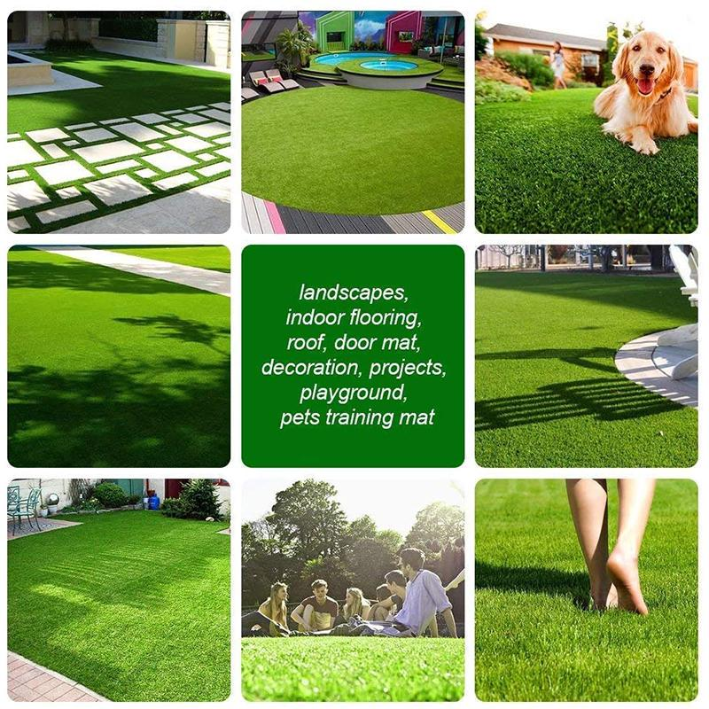 indoor outdoor waterproof artificial grass turf lawn fake grass mat thick synthetic turf for garden pet area kids paradise
