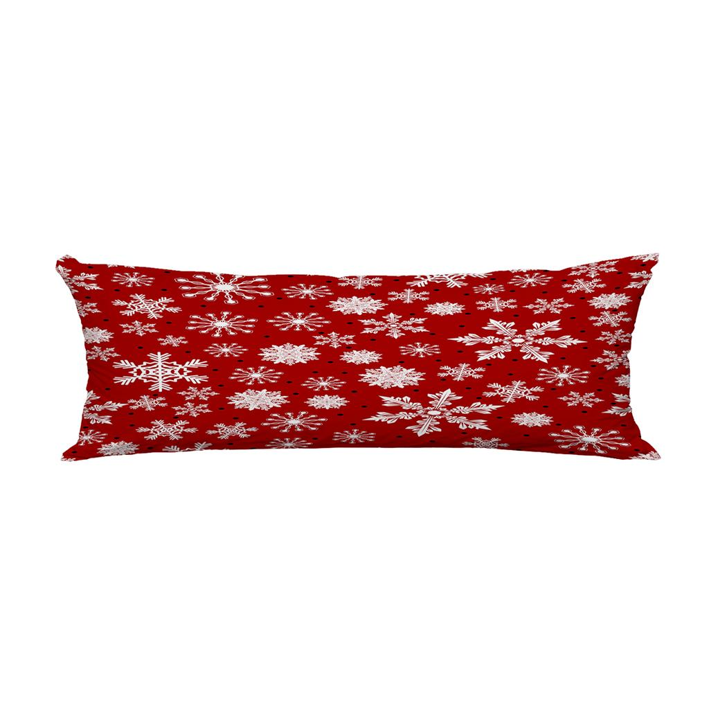 christmas snowflakes dots winter snow xmas body pillow covers pillowcase 20x60inch 50x150cm