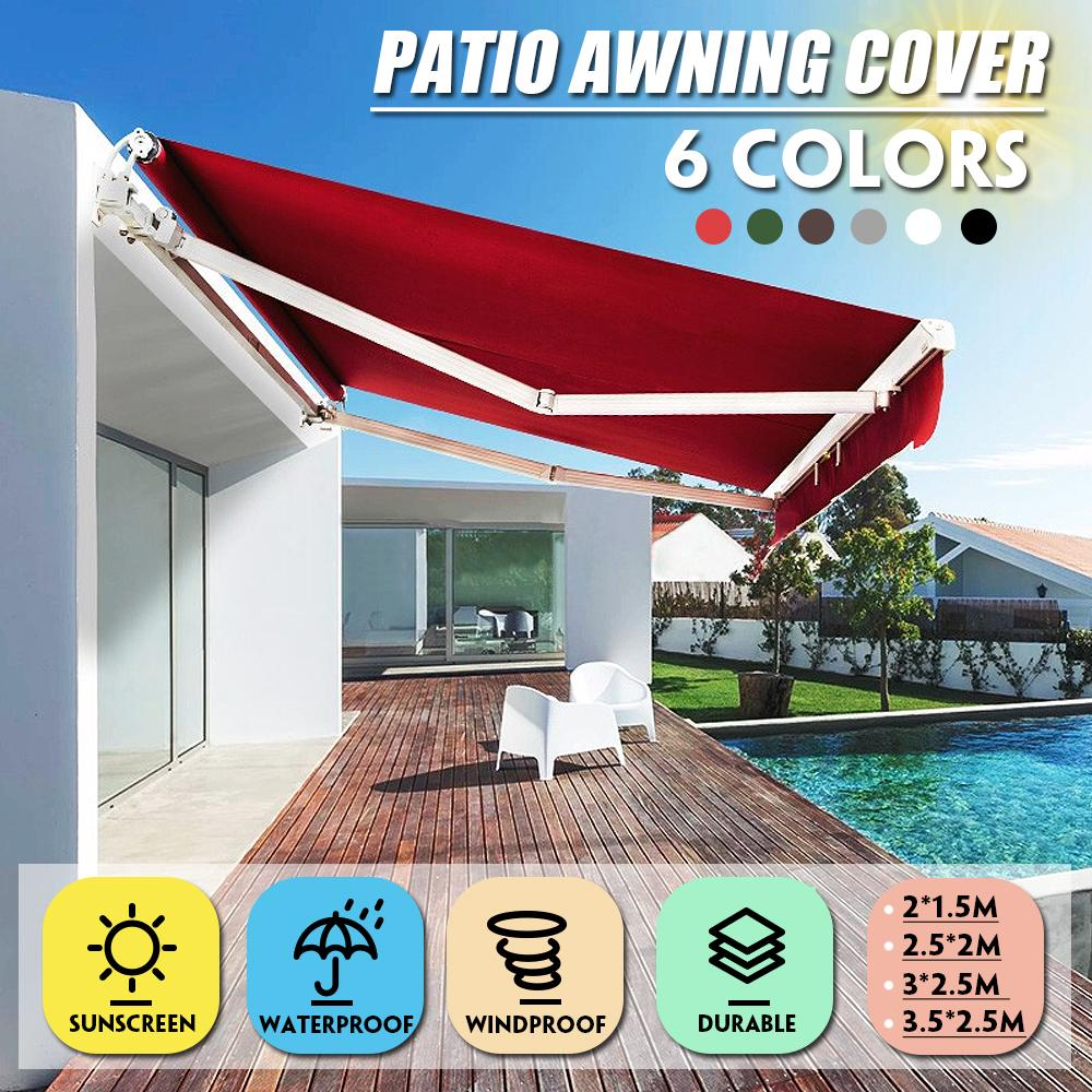 3mx2 5m sun shelter sunshade garden patio awning cover outdoor canopy garden patio pool shade sail awning camping picnic tent buy at a low prices on