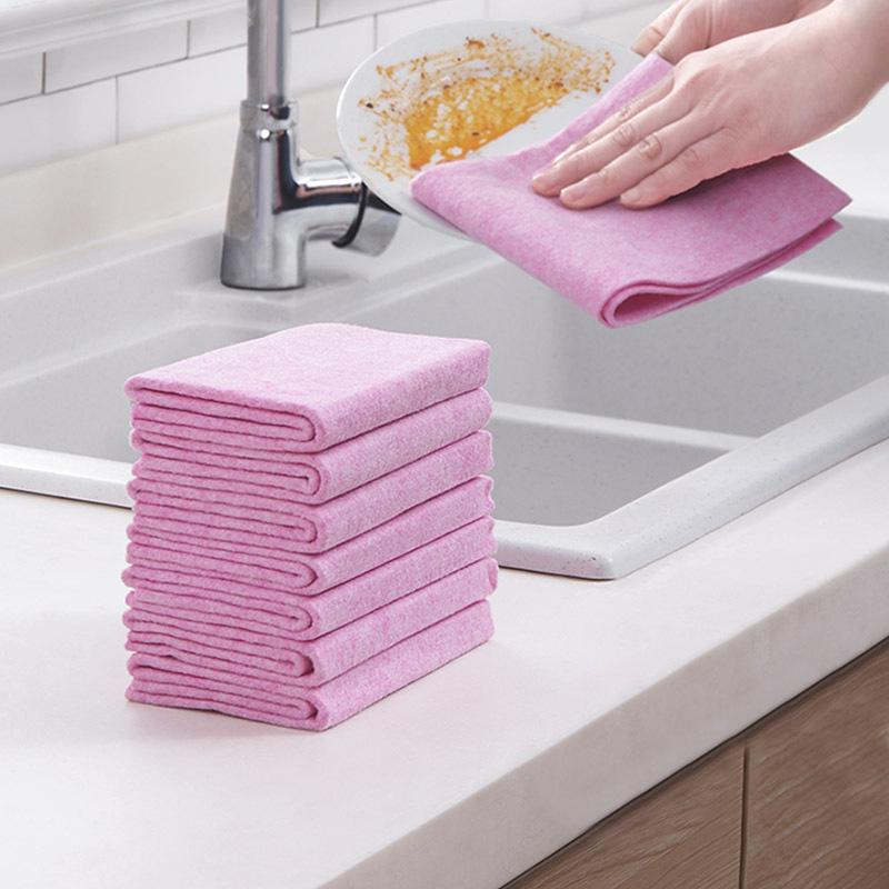 cleaning cloth lint free magic coconut shell cleaning cloths soft kitchen rags super absorbent kitchen tool