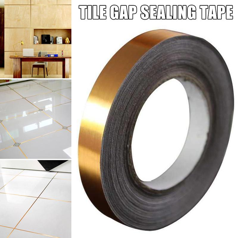 ceramic tile mildewproof gap tape tile gap sealing tape waterproof foil strip silver golden rims buy at a low prices on joom e commerce platform