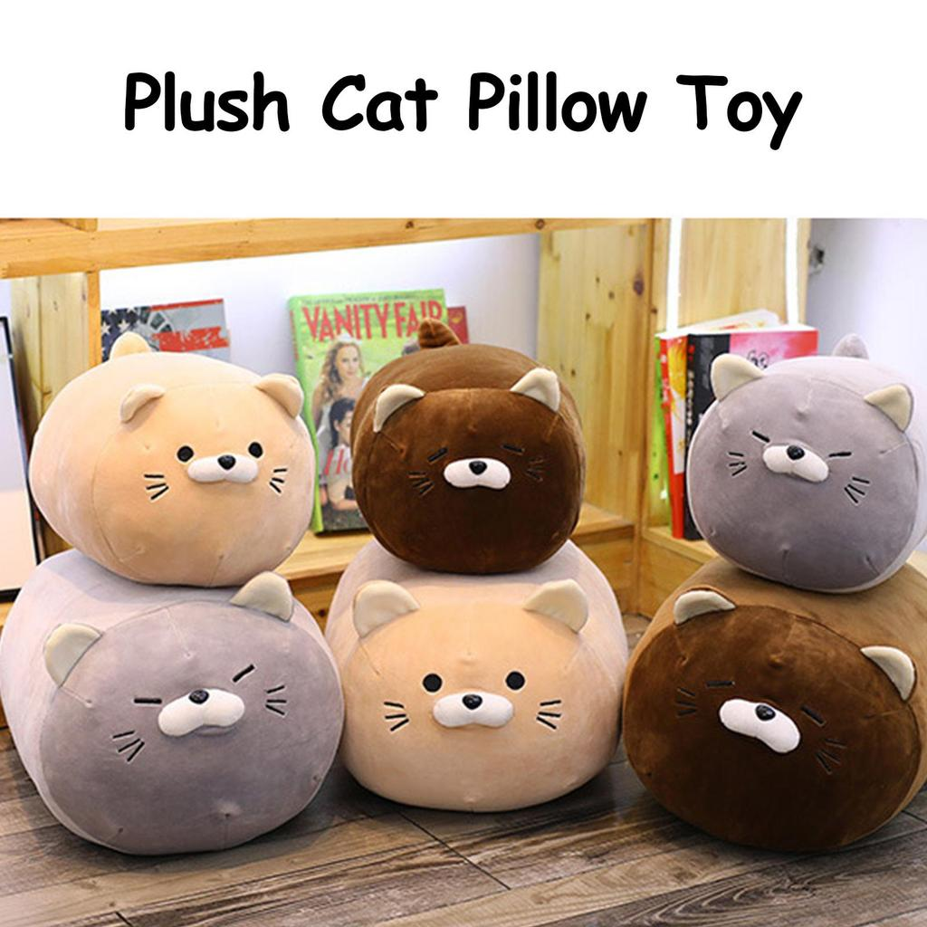 plush cat doll toy cute kitten kitty stuffed fluffy soft animal cushion hugging snuggle cuddle pillow for kids buy at a low prices on joom e commerce