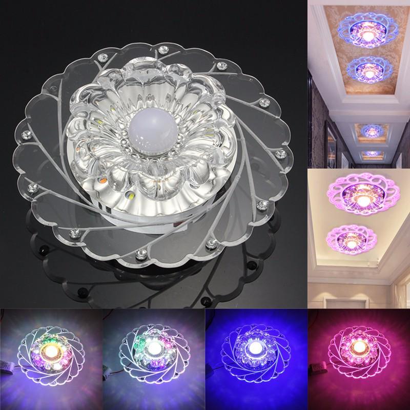 modern 3w crystal led ceiling down light fixture aisle hallway lamp chandelier