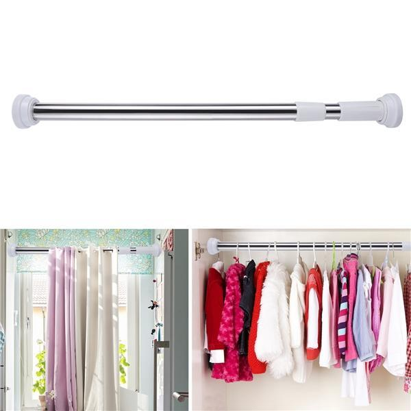 stainless steel bathroom shower curtain rod adjustable shower curtain tension rod buy at a low prices on joom e commerce platform