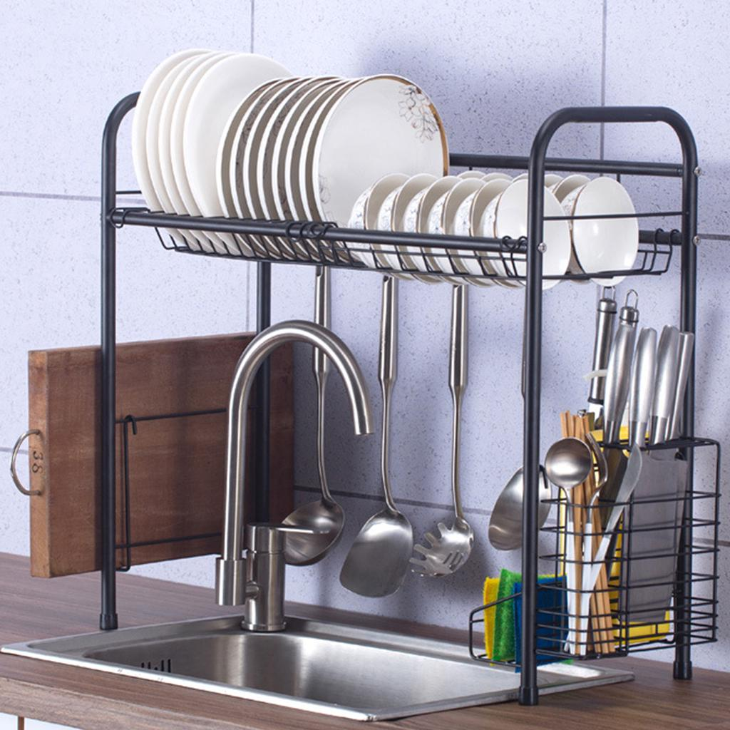60 70 80 90cm single layer over sink dish drying rack drainer stainless steel kitchen cutlery shelf buy at a low prices on joom e commerce platform