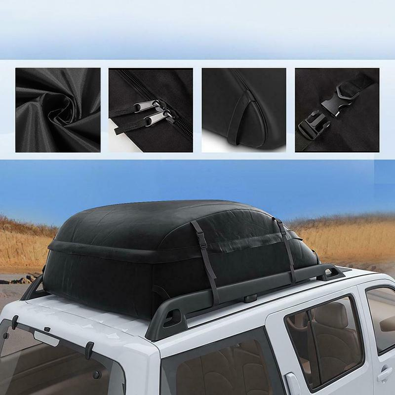 130x100x43cm oxford thicken car roof box roof bag trunk suv waterproof rooftop luggage carrier storage bag travel waterproof buy at a low prices on