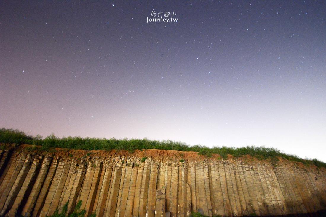 澎湖,西嶼,大菓葉,玄武岩,星空