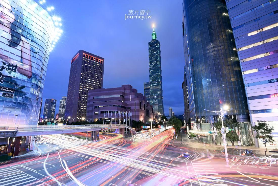 台北,信義,基隆路,信義路,天橋,車軌,台北101,夜景