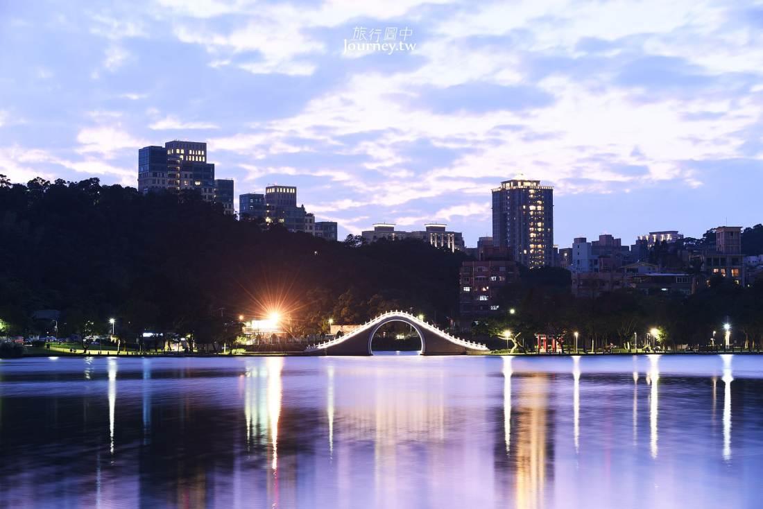 台北,內湖,大湖公園,落羽松,錦帶橋,夜景,文湖線