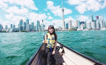 [加拿大-多倫多]遊湖不搭遊艇 划船才是經典Toronto Harbour 安大略湖周圍 獨木舟、皮艇、自行車租借 CN Tower景點推薦 ♥ 小Connie愛夢遊。遊記