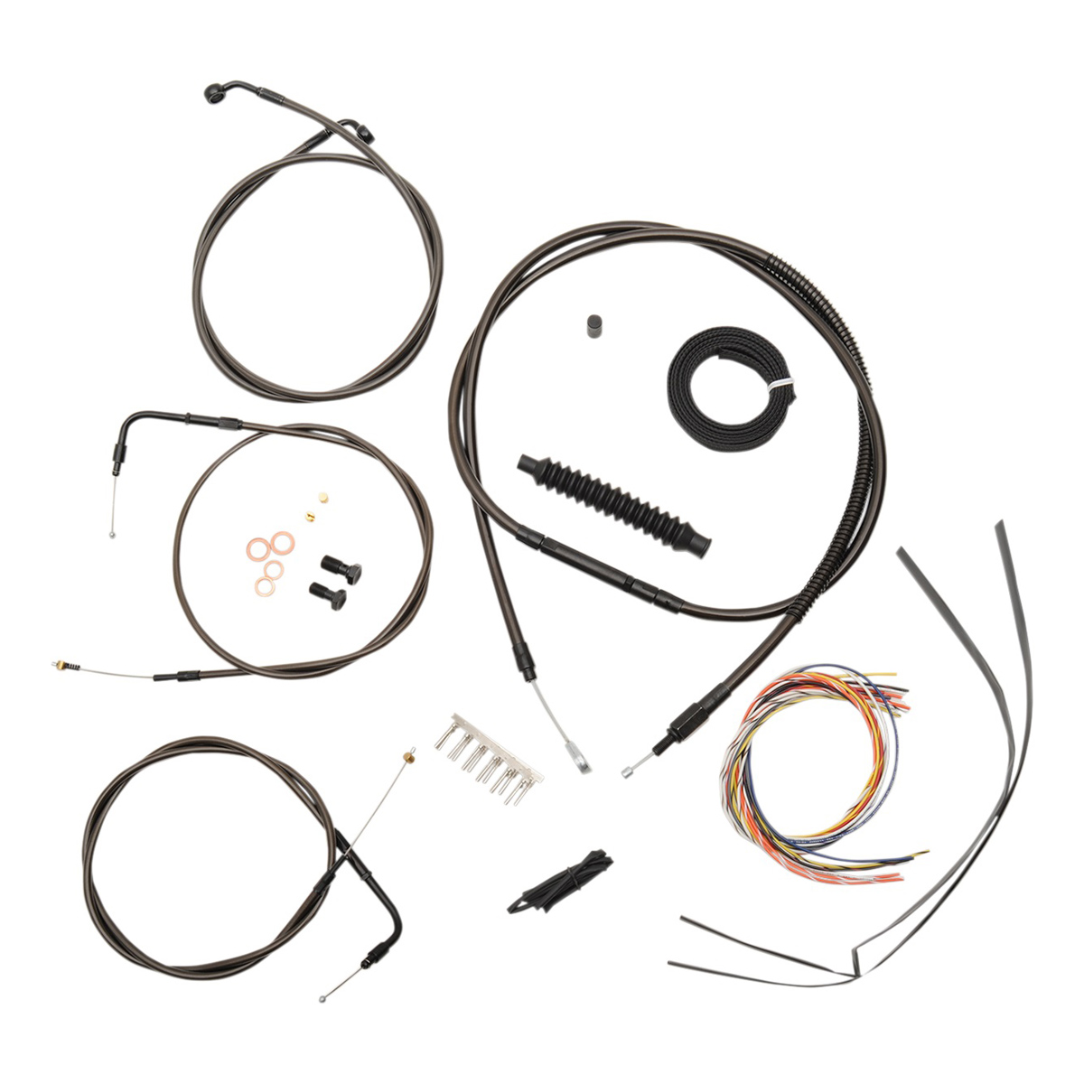 La Choppers Midnight Complete Cable Line Wiring Handlebar Kit For 18 20 Bars