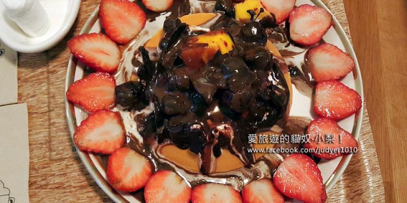 【釜山南浦洞美食】札嘎其站\CAFE CLOUD BAM클라우드밤,巧克力草莓鬆餅초콜렛밤S,好好吃!