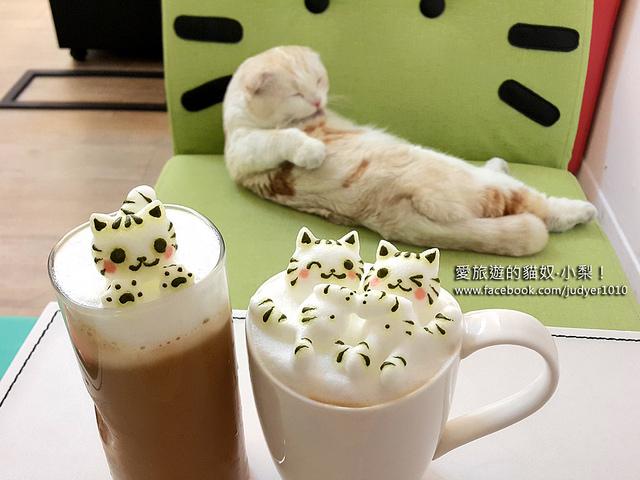【台中】咕嚕貓咖啡~超療癒貓咪立體拉花+喵星人咕嚕,讓我立馬融化啦!