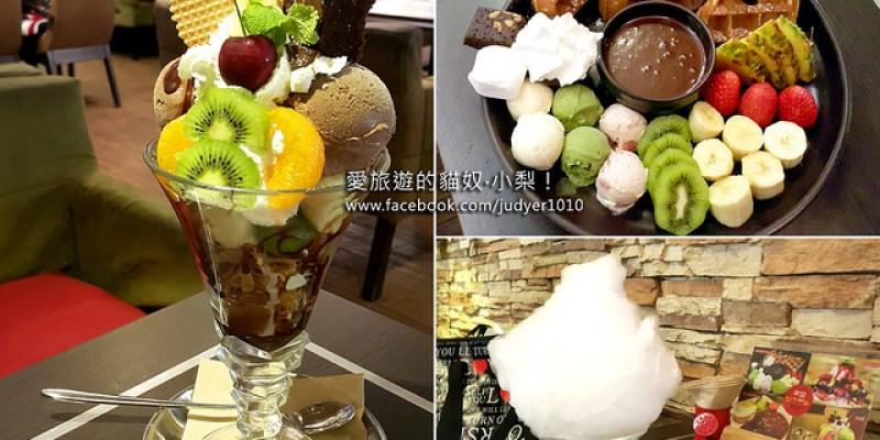 【韓國必吃】明洞美食\POEM咖啡廳,巧克力鍋鬆餅、棉花糖冰淇淋咖啡、CHOCO PARFAIT,你絕對不能錯過!