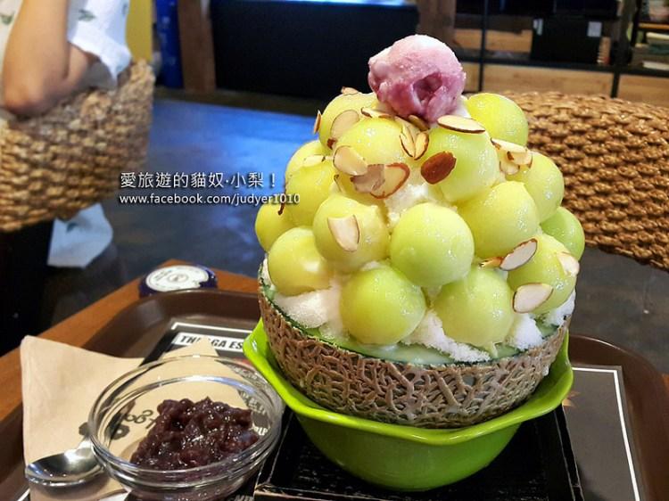 【韓國必吃美食】Lga COFFEE哈密瓜冰淇淋\弘大,甜甜蜜蜜超好吃!(已歇業)