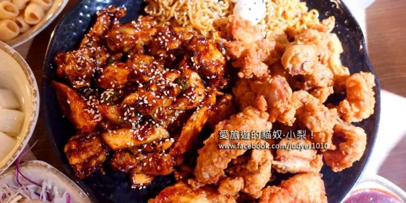 【釜山美食】海雲台站\咕咕炭火烤雞,炭烤甜辣雞+香脆炸雞拼盤加拉麵,消夜最佳良伴!